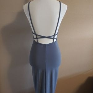 Topshop Lavender Backless Midi Dress Size 4
